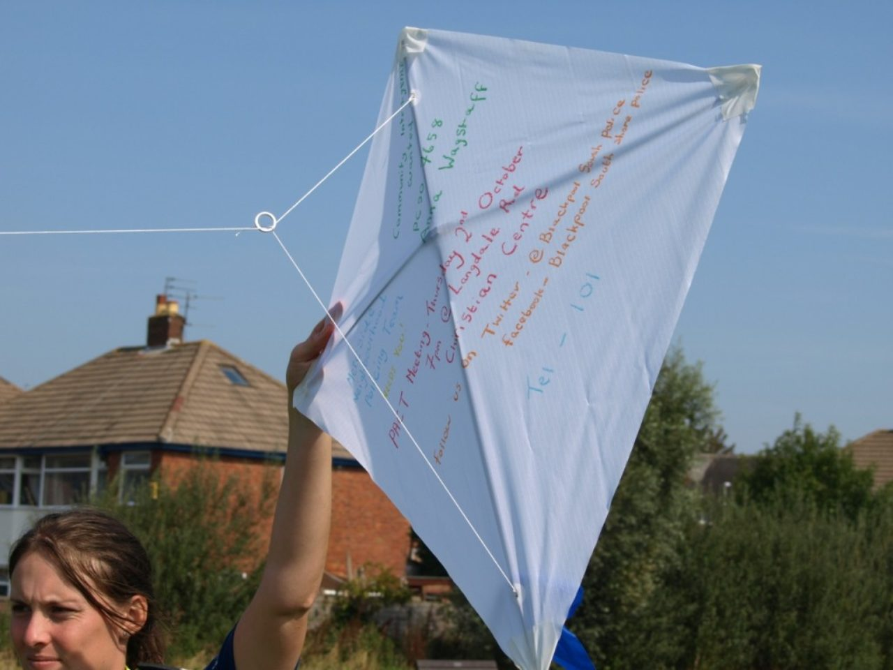 Kite decorated by Police Community Support officer