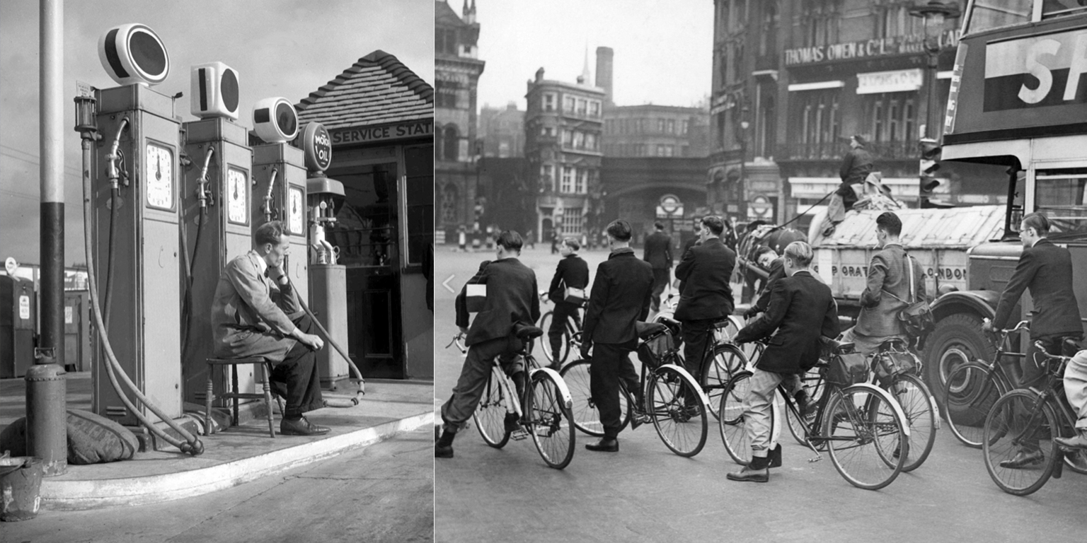 England during petrol rationing in the 1940s