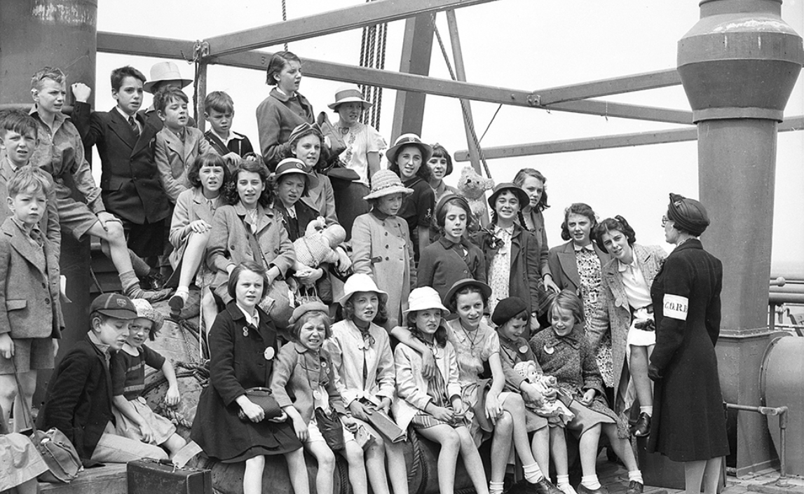 Child evacuees to Australia on SS Battory