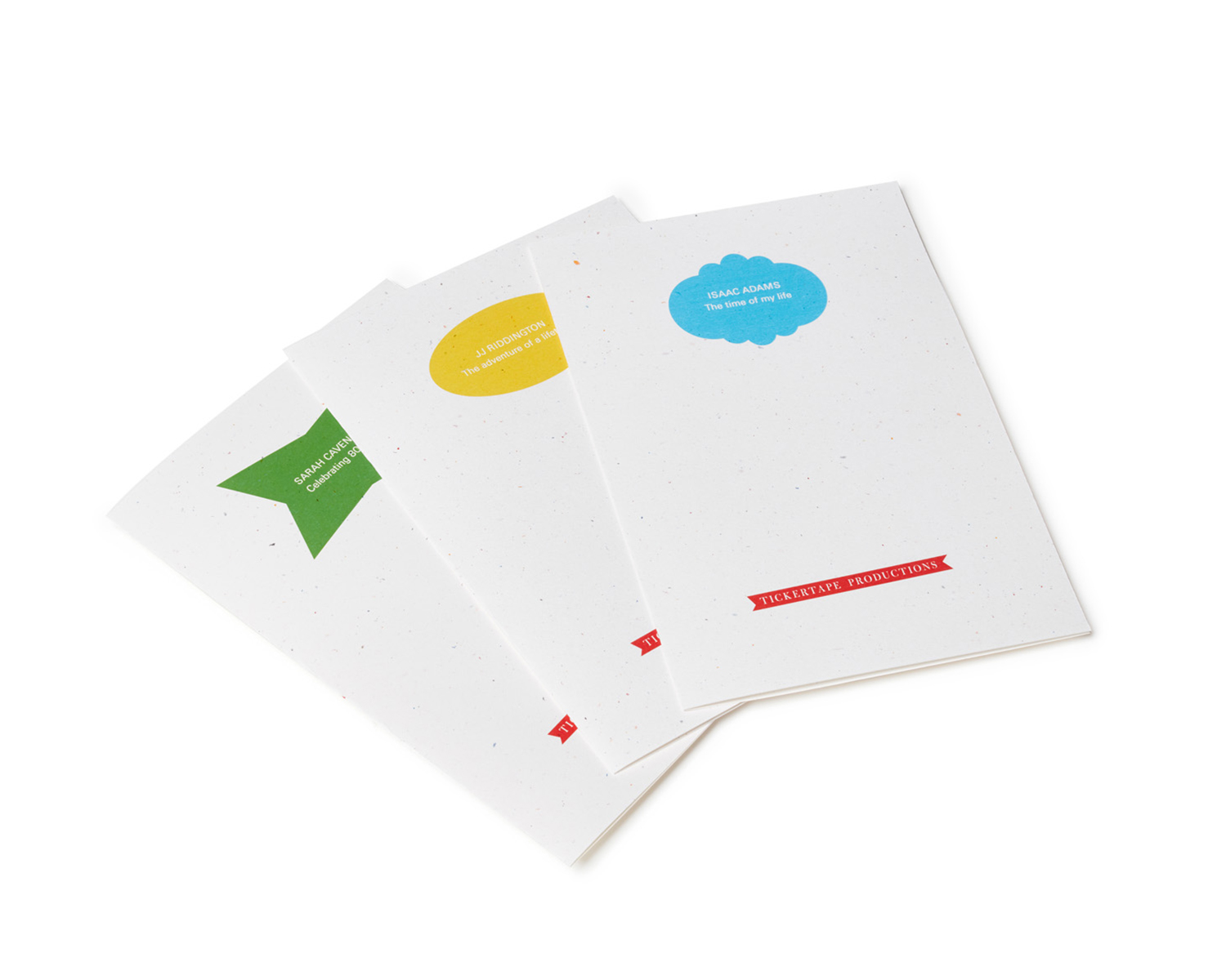Some of the cover designs for Spoken Portrait paper inserts and folders