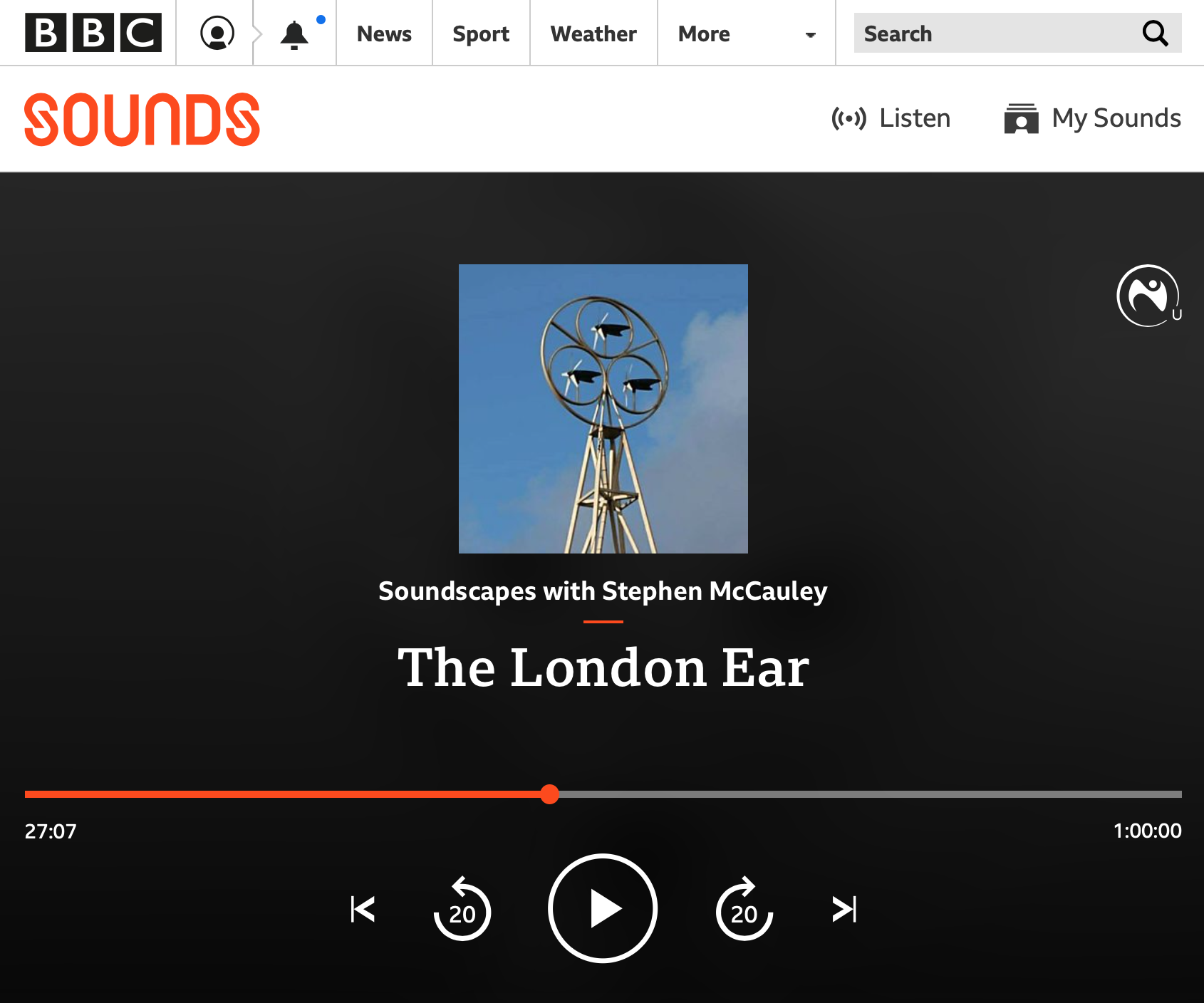 London A to G on BBC Radio